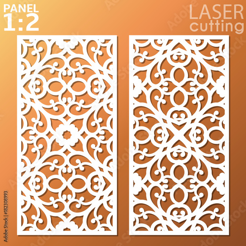 Ornamental Panels Template For Cutting May Be Use For Laser Cutting