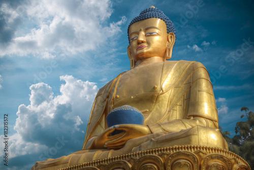 Foto op Aluminium Boeddha golden Buddha statue