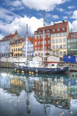 Nyhavn is the old harbor of Copenhagen