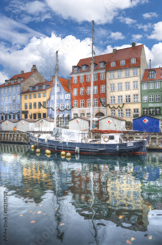 Nyhavn is the old harbor of Copenhagen