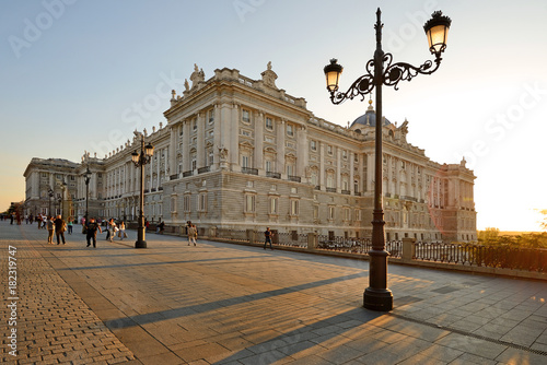 Papiers peints Madrid Royal Palace in Madrid, Spain