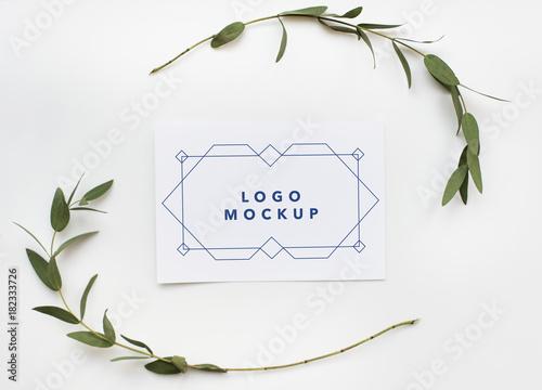 Mockup design space paper card