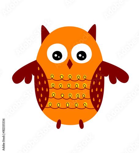 Deurstickers Uilen cartoon cute owl cartoon vector