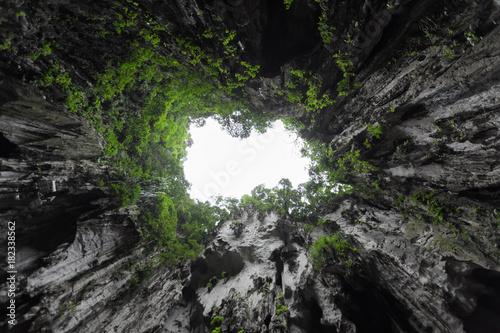 In de dag Kuala Lumpur Inside of Batu Caves temple. Kuala Lumpur, Malaysia. Famous national landmark