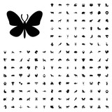 Butterfly icon illustration. animals icon set for web and mobile.