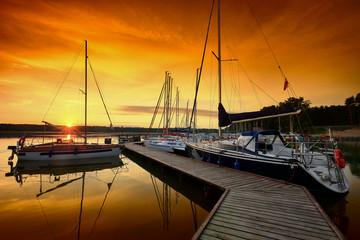 Mazury-zachód słońca © januszlipinski