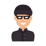 thief avatar character icon vector illustration design - 182355578