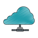 cloud computing isolated icon vector illustration design - 182358925