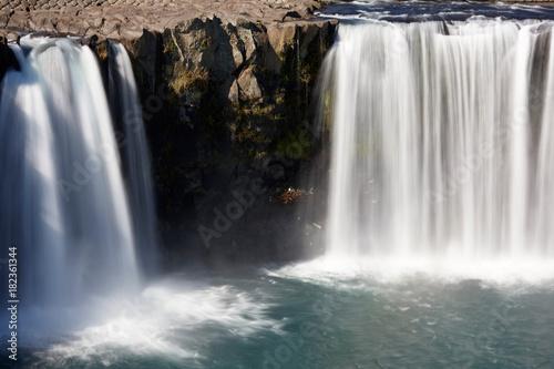Plexiglas Groen blauw 原尻の滝