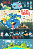 Global Warming Infographics Illustration - 182361713