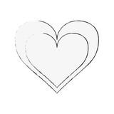 Heart and love symbol icon vector illustration graphic design - 182362586