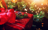 wonderful atmosphere of christmas and gifts - 182369742