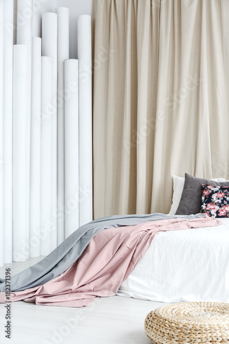 Bed with coverlets