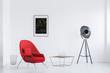 Quadro Designer lamp in bright loft