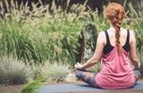 Caucasian woman meditating - 182372310