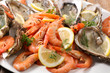 close up on seafood platter - 182372712