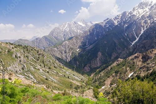 Fotobehang Zomer Chimgan mountains, Uzbekistan