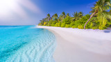 Beautiful summer beach scene as tropical landscape background use for vacation and travel or tourism concept - 182376927