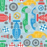 Racing sport seamless pattern