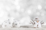 Christmas decoration on wooden background - 182390969