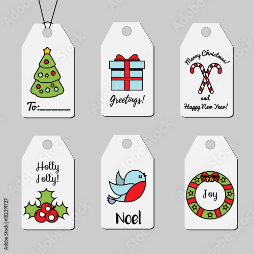 Christmas and new year gift tags shopping tags vector collection christmas and new year gift tags shopping tags vector collection winter holidays greetings and m4hsunfo