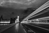 Traffic over the bridge by night