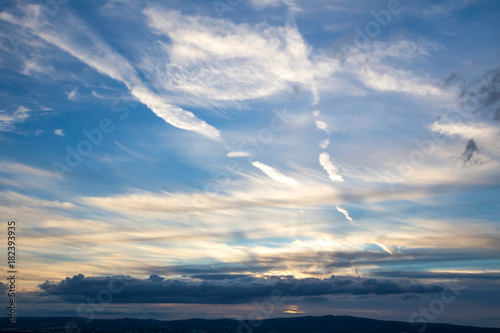 evening cloudscape background