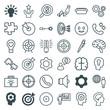 Set of 36 idea outline icons