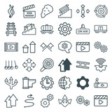 Set of 36 motion outline icons - 182397521