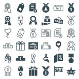 Set of 36 ribbon filled and outline icons - 182397533