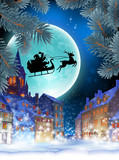 Cristmas greeting card. Highly realistic illustration. - 182400182