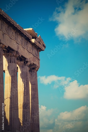 ruins of a acropolis of Ancient Greece