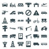 Set of 36 traffic filled icons - 182402795