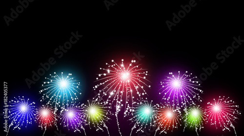 Holiday Multicolor Fireworks