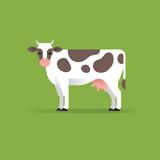 Vector cow illustration. - 182406364