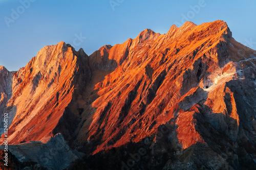 Tuinposter Baksteen Monte Cavallo al tramonto