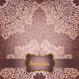 Wedding invitation or greeting card with floral mandala and Place for your text. Vintage decorative elements. Vector illustration - 182411983