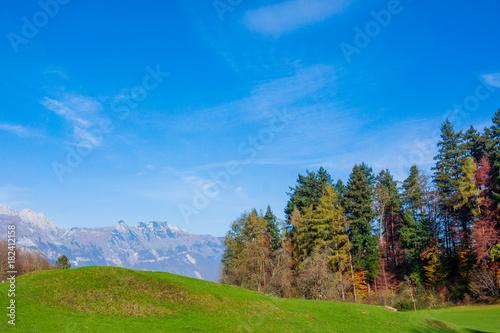 Foto op Plexiglas Herfst Beautiful landscape in the Swiss Alps