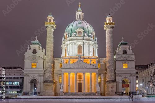 Tuinposter Wenen Karlskirche