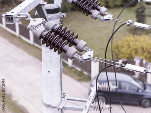 Inspekcja techniczna linii energetycznej z drona Poster