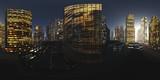 HDRI, Equirectangular projection, Spherical panorama., Night city,, Cityscape, Environment map