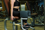 Close up - body sport woman doing legs exercise - 182432195