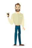 Businessman with coffee.