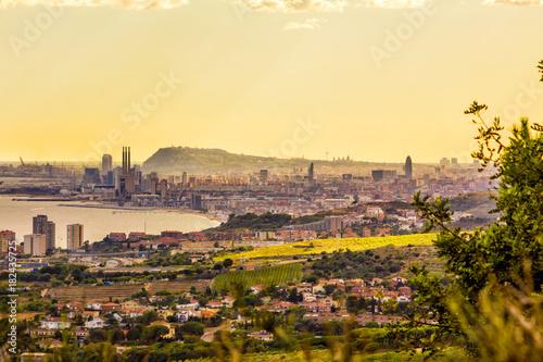 Aluminium Barcelona Barcelona skyline