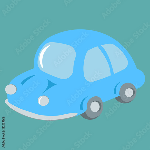 Plexiglas Auto Cartoon Car vector illustration