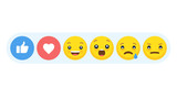 Abstract funny flat style emoji emoticon reactions color icon set. - 182442120