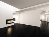 Modern spacious unfurnished undecorated room - 182446997