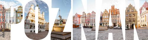 POZNAŃSKI list wypełniony zdjęciami słynnych miejsc i pejzaży w Poznaniu, Polska