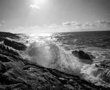 Vagues sur les falaises, un jour de mer agitée