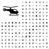 Helicopter icon illustration. airport icons set for web and mobile. - 182457577